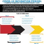COVID-19 Incubation period infographic